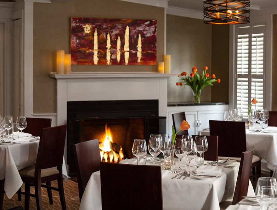 Dining Room with Fireplace - Fine Dining in Cape Cod