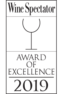 Wine Spectator - Award of Excellence 2019