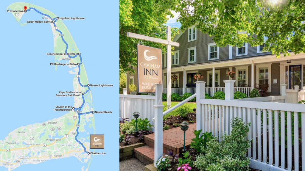Chatham Inn road trip map