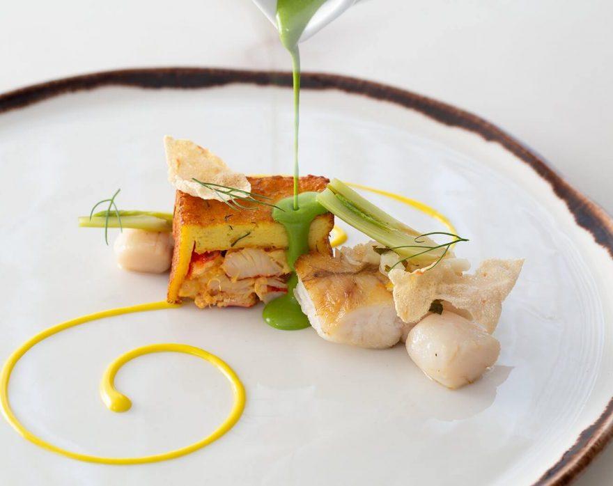 gourmet food at Cuvee restaurant