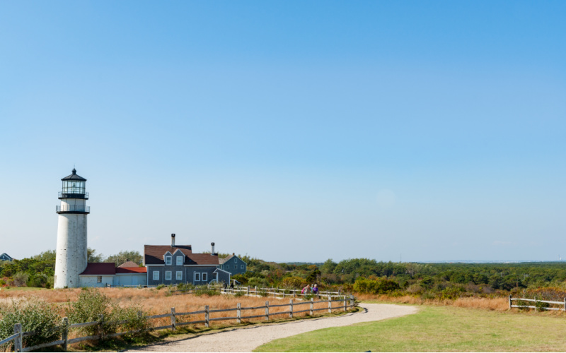 Highland Light on Cape Cod Road Trip