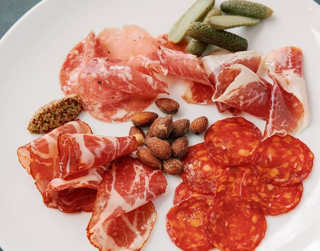 delicious plate of charcuterie